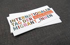 stadt freiburg internationaler tag der migrant innen 2015 - Grafik Design Freiburg