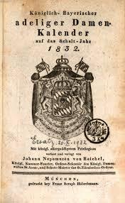 K Hen M Chen Königlich Bayerischer Adeliger Damen Kalender 1832 Bayerische