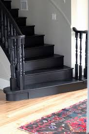 black staircase stairway paint ideas simple painted staircases black vs white