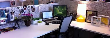 innovative office desk decor ideas with office cubicle design