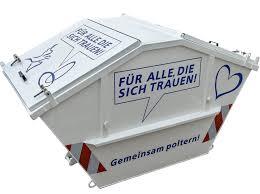container polterabend poltercontainer für jeden anlass den richtigen container fes