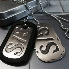 titanium dog tag necklace images Gangsta s 5 nicolas brown mercenary dog tag necklace pendant jpg