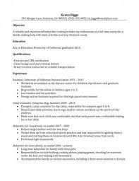 Nannies Resume Sample by Sample Nanny Resume Experience Download Sample Nanny Resume