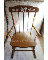 Unfinished Wood Rocking Chair Great Deal On Vintage 1960s Childs Children Wooden Wood
