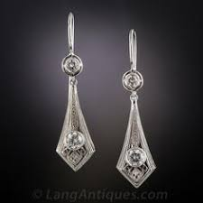original diamond drop the pair of antique diamond earrings from the turn of the