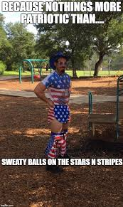 Sweating Balls Meme - image tagged in american flag patriot imgflip