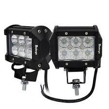 led tractor light bar 2x 4 18w cree led work light bar flood beam offroad 4x4 atv car