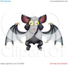 clipart of a cute happy halloween vampire bat royalty free