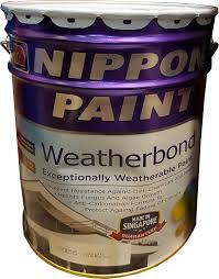 nippon paint weatherbond 20l 48 colours exterior paints