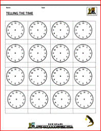 pictures on free printable telling time worksheets 2nd grade