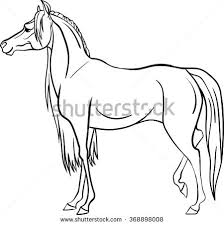 coloring book horse stock vector 424445509 shutterstock