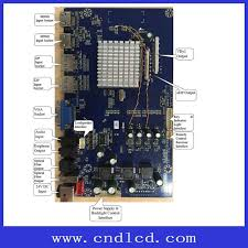 4k lcd monitor mother board with hdmi 2 dp 2 vga to v by one or