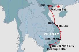 Saigon On World Map by Vintage Vietnam Vietnam Tours Peregrine Adventures Au