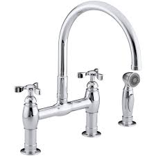 28 bridge kitchen faucet with side spray whitehaus collection