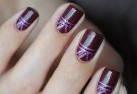 graphic design with stripes nail art tutorial youtube