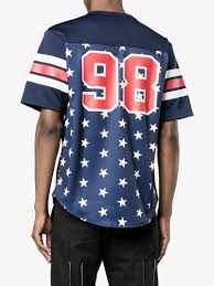 sophnet star print football t shirt t shirts browns fashion