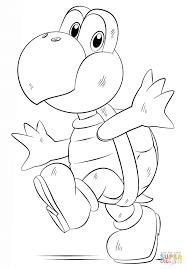 koopa troopa coloring page free printable coloring pages