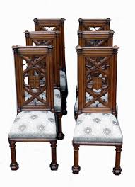 Victorian Dining Chairs Antique Victorian Set Of Six Oak Dining Chairs S U0026 S Timms