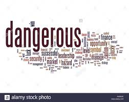 Challenge Dangerous Business Concept Management Danger Risky Risk Solution Stock