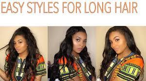 easy styles for long hair long weave styles bella beauty