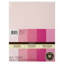 recollections pink buttons cardstock paper