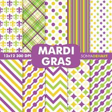 mardi gras paper digital paper pack mardi gras
