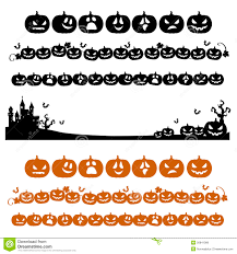 halloween pumpkin line decoration in silhouette royalty free stock
