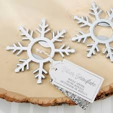 wedding bottle openers silver snowflake bottle openers