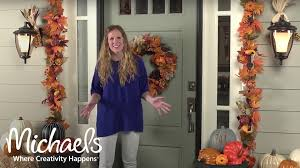 fall decor front porch michaels youtube