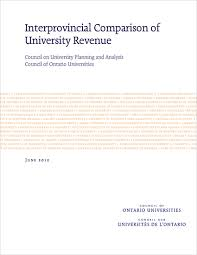 interprovincial comparison of university revenue council of