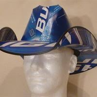 bud light party box cowboy hat made from recycled budweiser beer boxes shophandmade