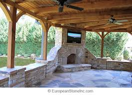 Covered Patios Designs Outdoor Covered Patio Designs Flagstone Patio Fireplace