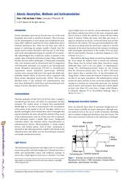 hollow cathode l in atomic absorption spectroscopy atomic absorption methods and instrumentation atomic absorption