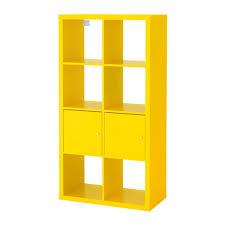 Ikea Shelving Units by Kallax Shelving Unit With Doors Yellow 30 3 8x57 7 8