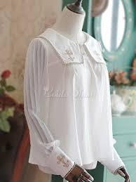 sailor blouse blouses white chiffon sleeve sailor collar