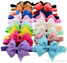 baby hair bows 4 inch ribbon bow headbands for infant