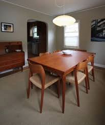 Vintage MidCentury Modern Set Dining Room Table Pinterest - Danish teak dining room table and chairs