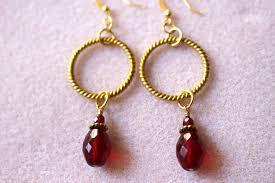 hoop beaded earrings gold plated hoop earrings with glass glass hoop