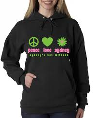 bar mitzvah favors sweatshirts logo and favor use of color without adding to cost of