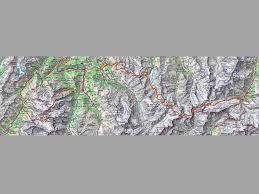 Swiss Alps Map The Walkers Haute Route Hike From Chamonix To Zermatt