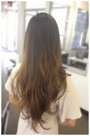 hairstyles with layered in back and longer on sides long layered haircut back view v shaped haircut hair pinterest v