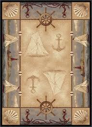 Blue Area Rugs 5x8 by Amazon Com Universal Rugs Seashore Nautical Novelty Lodge Pattern