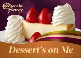 restaurant gift cards half price two free slices of cheesecake with 25 the cheesecake factory gift