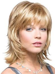 short shag haircuts for oblong face short layers with bangs medium hairstyle pinterest medium