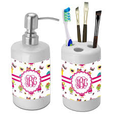 girly bathroom ideas girly monsters bathroom accessories set ceramic personalized