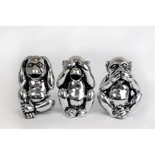 see hear and speak no evil antique silver monkey money box boxes