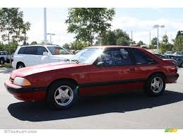 1990 Mustang Gt Black 1990 Bright Red Ford Mustang Lx 5 0 Coupe 36856125 Photo 5