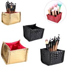 pu makeup cosmetic storage box case holder brush pen organizer