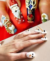 29 tacky christmas nail art designs