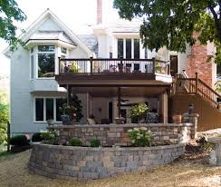 Patio Retaining Wall Pictures Stamped Concrete And Stone Hardscape Pictures Built By All Weather